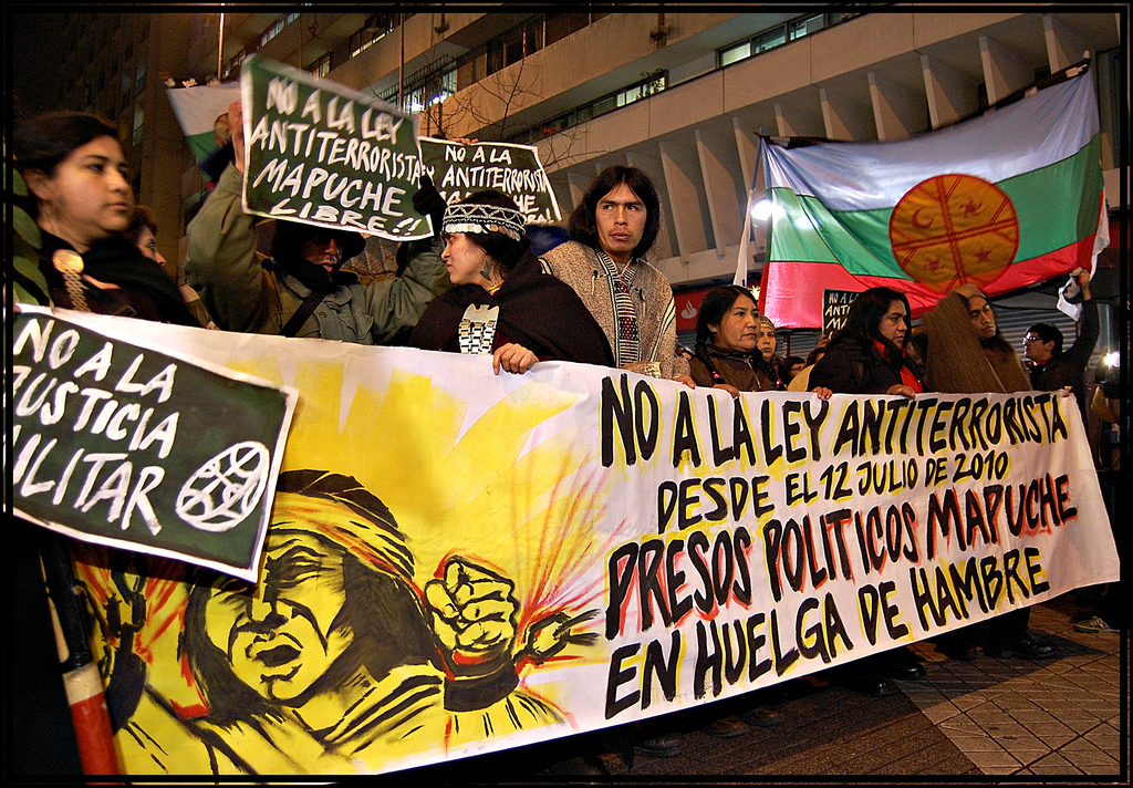 Mapuche Proteste