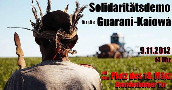 Solidaritätsdemo für die Guarani-Kaiowá