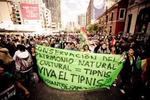 Los marchistas del TIPNIS llegan a La Paz (19/10/2011), Foto Szymon Kochański, flickr.com