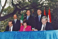 NAFTA Initialing Ceremony, October 1992