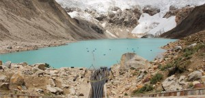 Klimawandelbedingte Gletscherschmelze in Huaraz (Peru). Foto: Germanwatch
