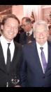 Ein Foto vom gestrigen Abend in der Botschafterresidenz: Bundespräsident Joachim Gauck mit Filmemacher Florian Gallenberger. Im Hintergrund der verurteilte Täter der Colonia Dignidad Reinhard Zeitner.