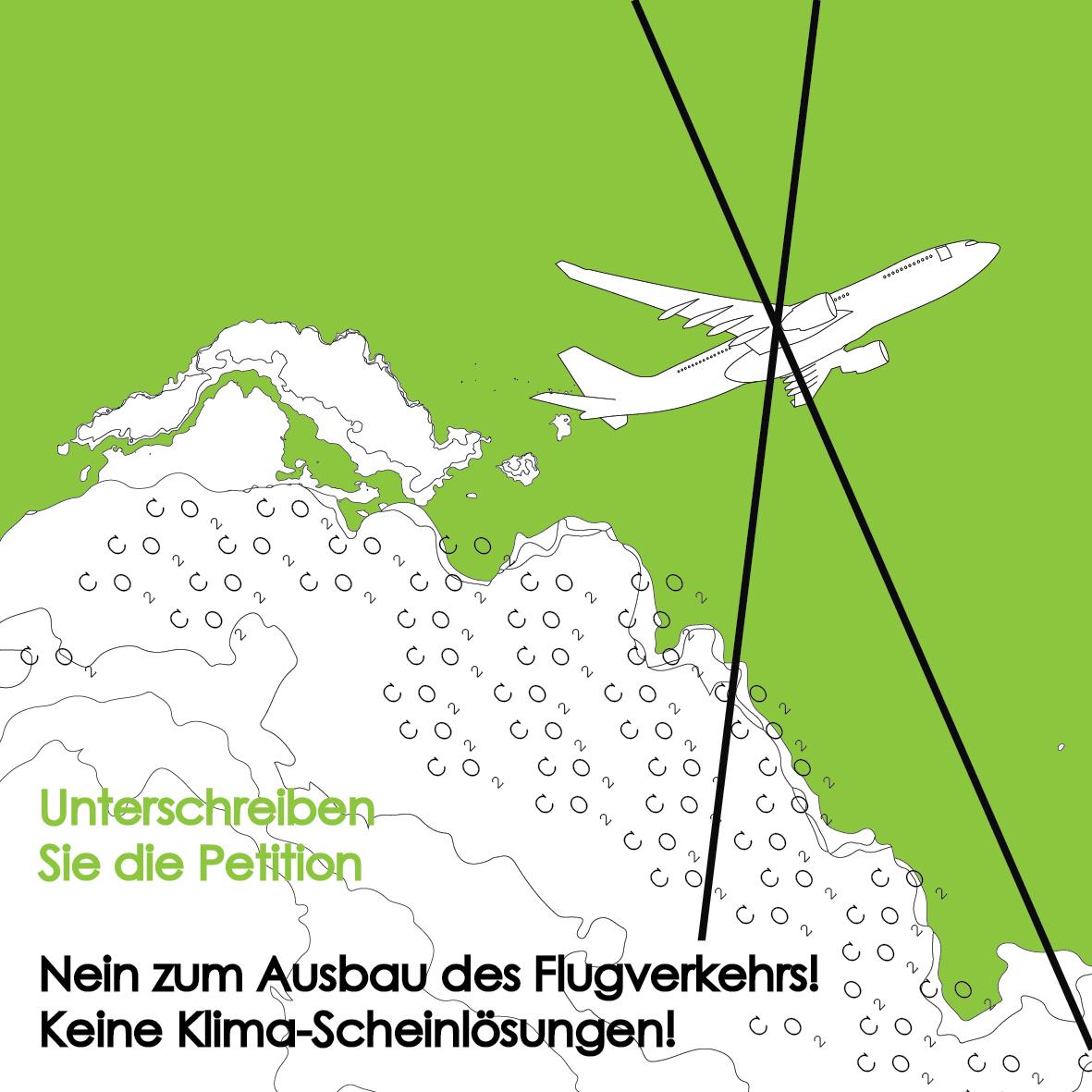 Nein zum Ausbau des Flugverkehrs! Keine Klima-Scheinlösungen