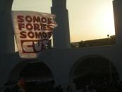 """Wir sind stark! Wir sind CUT!"" CUT-Flagge, Lapa, Rio de Janeiro, April 2016. Foto: christian Russau"